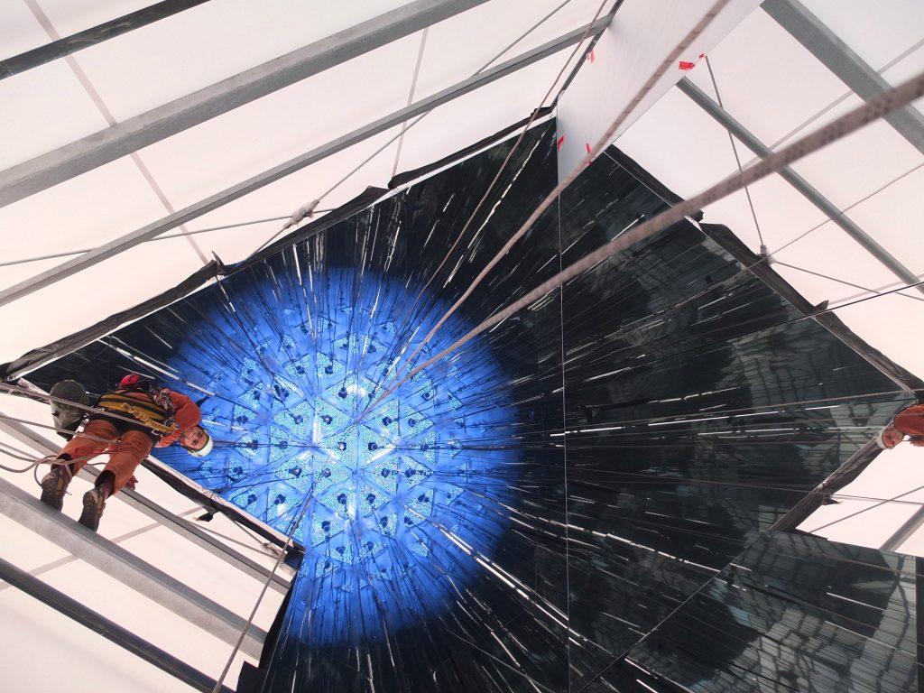 Montage Kunstwerk Installation durch Industriekletterer